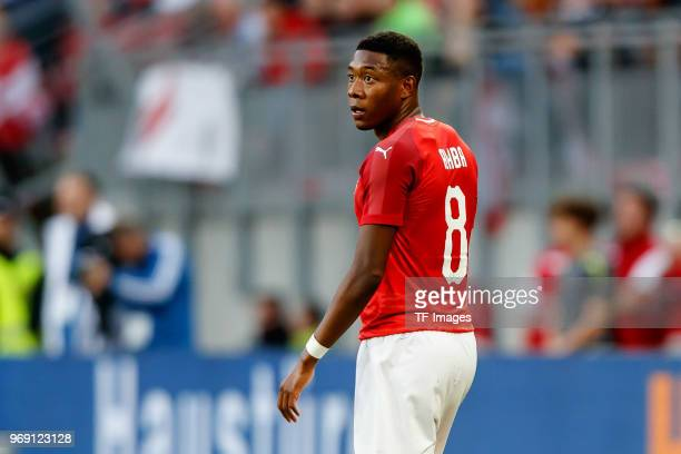 David Alaba of Austria look on during the international friendly match between Austria and Germany at Woerthersee Stadion on June 2 2018 in...