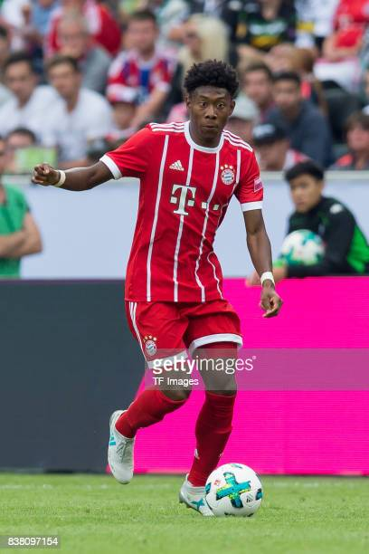 David Alaba of Bayern Muenchen controls the ball during the Telekom Cup 2017 Final between SV Werder Bremen and FC Bayern Muenchen at Borussia Park...