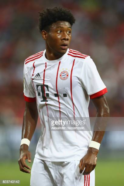 David Alaba of Bayern Muenchen looks on during the International Champions Cup 2017 match between Bayern Muenchen and Inter Milan at National Stadium...