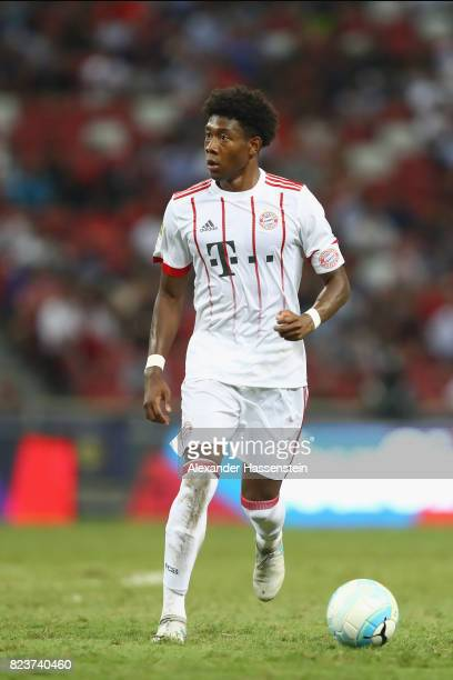 David Alaba of Bayern Muenchen runs with the ball during the International Champions Cup 2017 match between Bayern Muenchen and Inter Milan at...