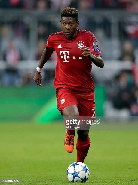David Alaba of Bayern Munchen during the Champion League group F match between FC Bayern Munich and Arsenal FC on November 4 2015 at the Allianz...