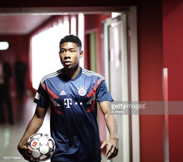 David Alaba of Bayern Munich during the Bundesliga match between FC Bayern Muenchen and TSG 1899 Hoffenheim at Allianz Arena on August 24 2018 in...