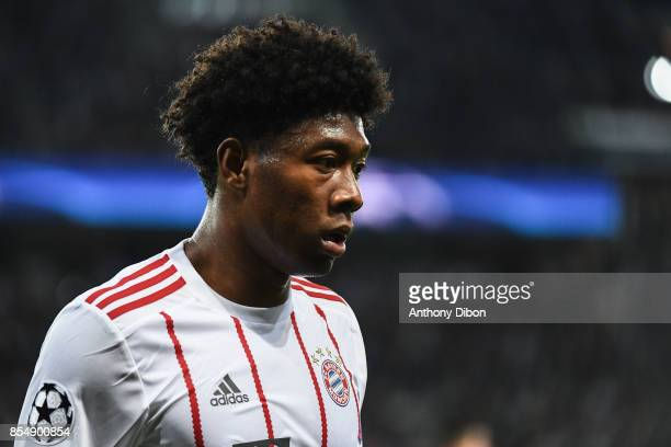 David Alaba of Bayern Munich during the Uefa Champions League match between Paris Saint Germain and Fc Bayern Muenchen on September 27 2017 in Paris...