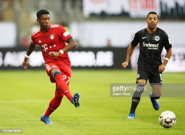 David Alaba of Bayern Munich in action during the DFL Supercup 2018 match between Eintracht Frankfurt and Bayern Muenchen at CommerzbankArena on...