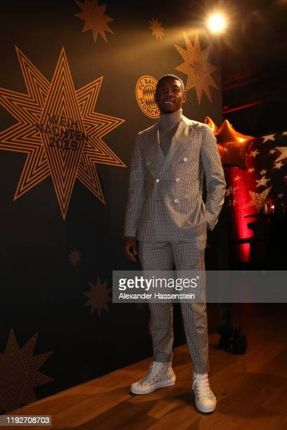 David Alaba of FC Bayern Muenchen attends the clubs Christmas party at Allianz Arena on December 08 2019 in Munich Germany