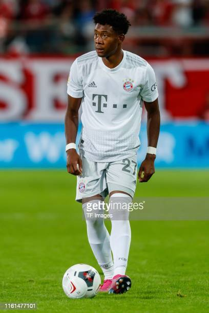 David Alaba of FC Bayern Muenchen controls the ball during the DFB Cup first round match between Energie Cottbus and FC Bayern Muenchen at Stadion...