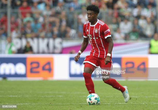 David Alaba of Muenchen controls the ball during the Telekom Cup 2017 Final between SV Werder Bremen and FC Bayern Muenchen at Borussia Park on July...