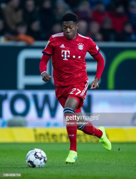 David Alaba of Muenchen in action during the Bundesliga match between TSG 1899 Hoffenheim and FC Bayern Muenchen at PreZeroArena on January 18 2019...