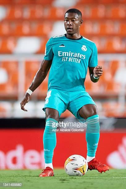 David Alaba of Real Madrid in action during the La Liga Santander match between Valencia CF and Real Madrid CF at Estadio Mestalla on September 19,...