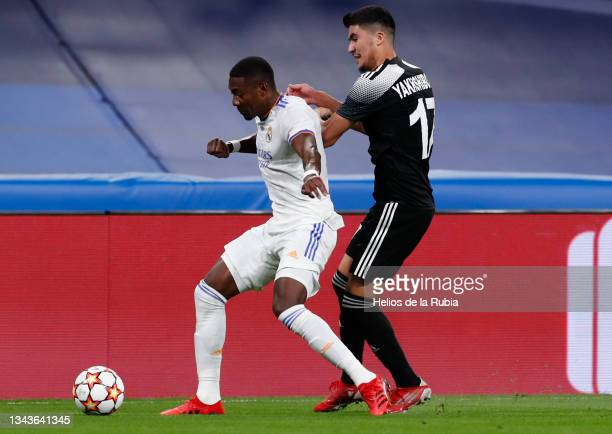 David Alaba of Real Madrid in action during the UEFA Champions League group D match between Real Madrid and FC Sheriff at Estadio Santiago Bernabeu...