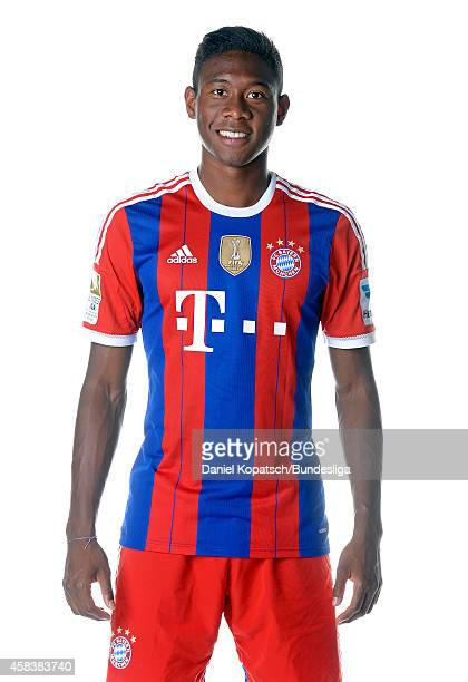 David Alaba poses during the FC Bayern Muenchen Team Presentation for DFL on August 9 2014 in Munich Germany