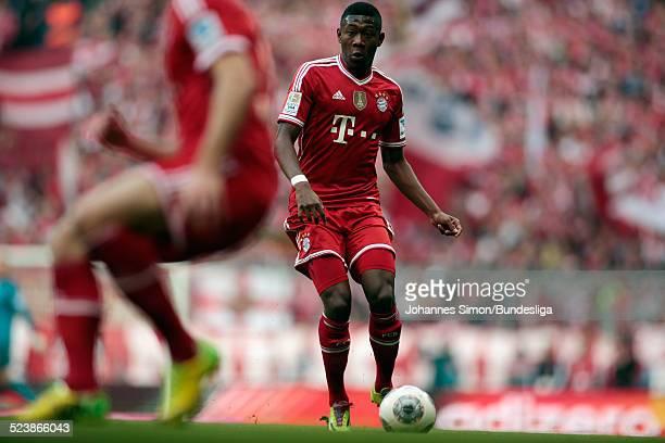 David Alaba von Bayern in Aktion beim BundesligaSpiel FC Bayern Muenchen gegen Borussia Dortmund am 12 April 2014 in der Muenchner AllianzArena