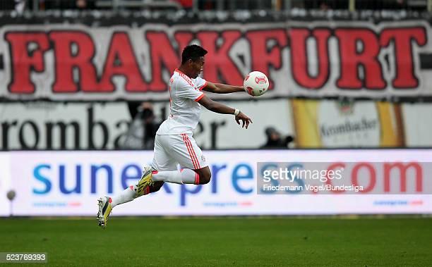David Alaba von Bayern in aktion waehrend des Bundesligaspiels zwischen Eintracht Frankfurt und Bayern Muenchen in der CommerzbankArena am 06 April...