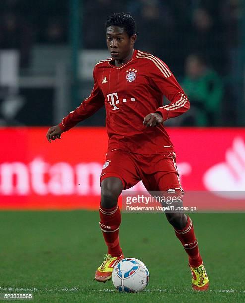 David Alaba von Bayern waehrend des Bundesligaspiels zwischen Borussia Moenschengladbach und FC Bayern Muenchen im Borussia Park am 20 Januar 2012 in...