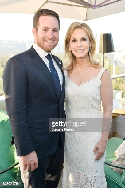 David Alagem and Adele Alagem attend Waldorf Astoria Beverly Hills Grand Opening Cocktail Celebration on June 28 2017 in Beverly Hills California