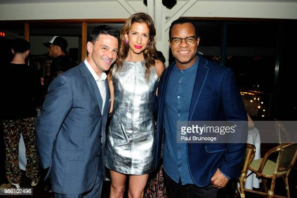 David Alan Basche Alysia Reiner and Geoffrey Fletcher attend The Cinema Society With Synchrony And Avion Host The After Party For Marvel Studios'...