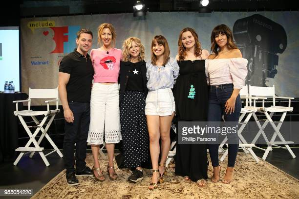 David Alan Basche Alysia Reiner Meg Ryan Natalie Morales Geena Davis and Stephanie Beatriz attend the 'Geena Freinds' panel at the 4th Annual...