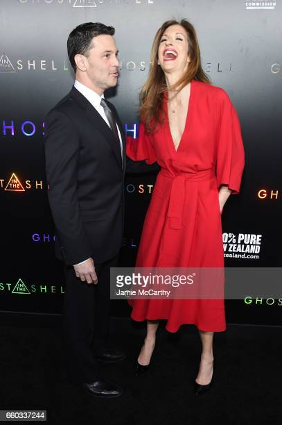 David Alan Basche and Alysia Reiner attend the Ghost In The Shell premiere hosted by Paramount Pictures DreamWorks Pictures at AMC Lincoln Square...