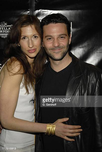 David Alan Basche and Alysia Reiner during 11th Annual Gen Art Film Festival Shut Up And Sing Premiere at Clearview Chelsea West Cinema in New York...