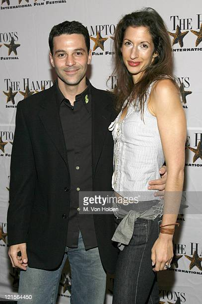 David Alan Basche and Alysia Reiner during 14th Annual Hamptons International Film Festival Screening of Shut Up and Sing Arrivals and Inside at...