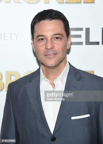 David Alan Basche attends a screening of Sony Pictures Classics' The Bronze hosted by Cinema Society SELF at Metrograph on March 17 2016 in New York...