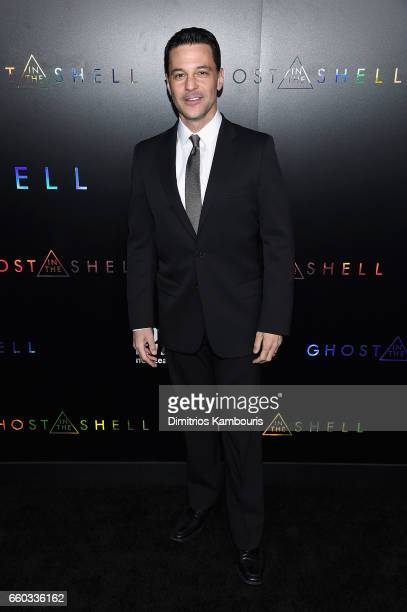 David Alan Basche attends the Ghost In The Shell premiere hosted by Paramount Pictures DreamWorks Pictures at AMC Lincoln Square Theater on March 29...