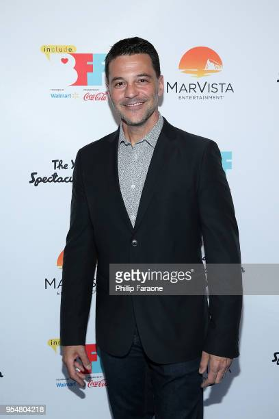 David Alan Basche attends The Year of Spectacular Men premiere at the 4th Annual Bentonville Film Festival Day 4 on May 4 2018 in Bentonville Arkansas