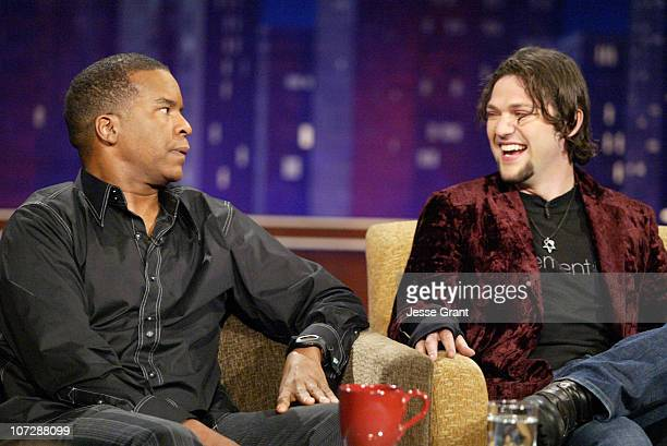 David Alan Grier and Bam Magera on the Jimmy Kimmel Live show on ABC Photo by Jesse Grant/WireImagecom/ABC