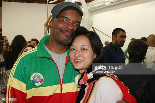 David Alan Grier and Christine Y Kim attend House of CAMPARI Presents LAXART Surplus Room Featuring work by Vishal Jugdeo Created by LAXARTS Aram...