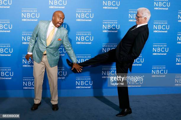 David Alan Grier and Ted Danson attend the 2017 NBCUniversal Upfront at Radio City Music Hall on May 15 2017 in New York City