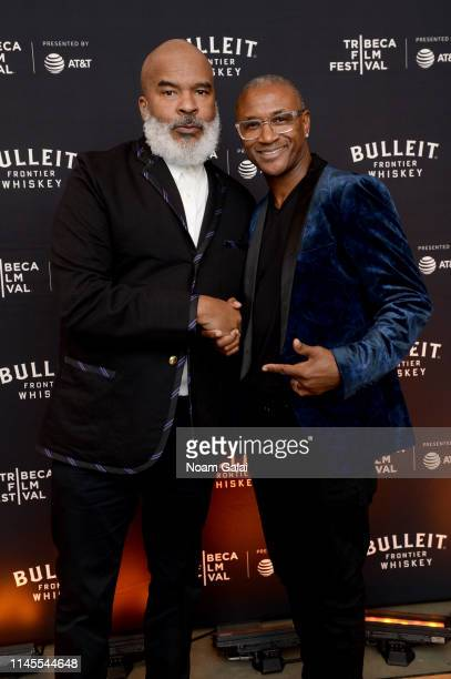 David Alan Grier and Tommy Davidson at the 25th Anniversary Celebration of In Living Color at the Bulleit 3D Printed Frontier Lounge at the Tribeca...