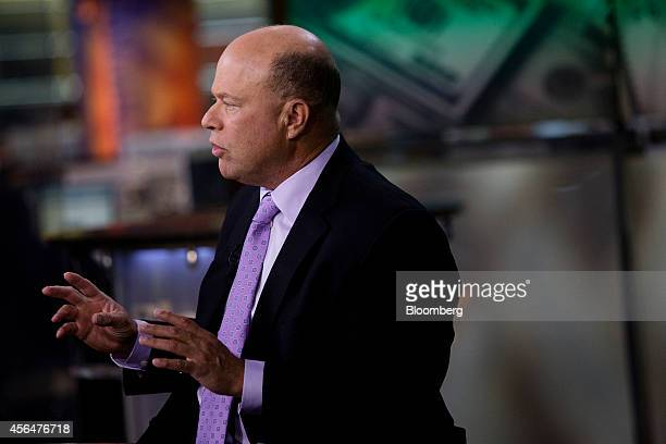 David Alan Tepper president of Appaloosa Management LP speaks during a Bloomberg Television interview in New York US on Wednesday Oct 1 2014 Tepper...