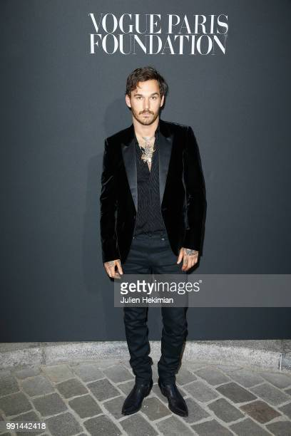 David Alexander Flinn attends Vogue Foundation Dinner Photocall as part of Paris Fashion Week Haute Couture Fall/Winter 20182019 at Musee Galliera on...