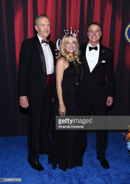 David Alexander Lisa Arturo and Terry Simons arrive at the 2020 American Rescue Dog Show at Barker Hangar on January 19 2020 in Santa Monica...