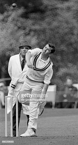 David Allen bowling for Gloucestershire circa 1967