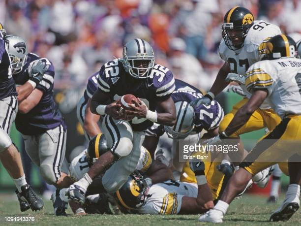 David Allen Running Back for the Kansas State Wildcats during the NCAA Big 12 Conference college football game against the University of Iowa...