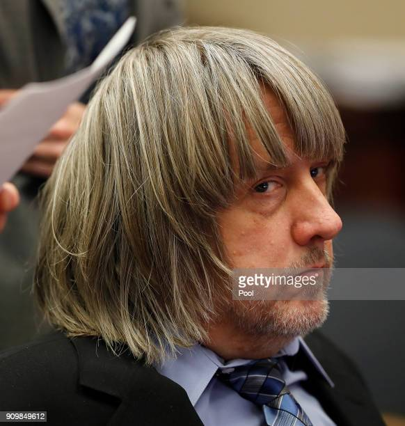 David Allen Turpin accused of abusing and holding his 13 children captive appears in court on January 24 2018 in Riverside California According to...