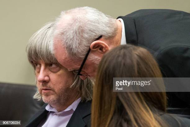 David Allen Turpin accused of holding 13 children captive appears in court for arraignment on January 18 2018 in Riverside California According to...