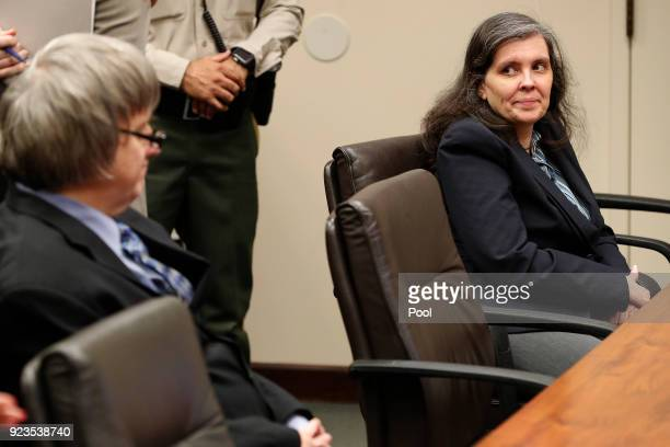 David Allen Turpin and Louise Anna Turpin accused of abusing and holding 13 of their children captive appear in court on February 23 2018 in...