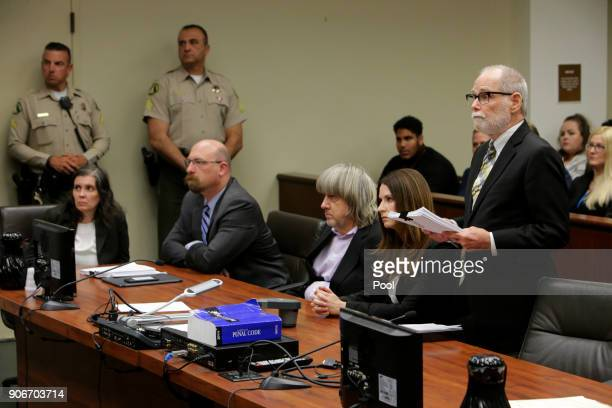 David Allen Turpin and Louise Anna Turpin accused of holding their 13 children captive appear in court for arraignment on January 18 2018 in...