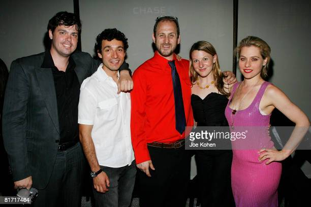David Ambrose Actor Gian Murray Gianino Director Timothy Haskell Producer Melanie Sylvan and Actress Meital Dohan attend Stitching Opening Night...