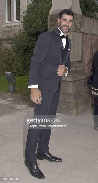 David Amor attends the wedding ceremony of Marta Hazas and Javier Veiga at Palacio de la Magdalena on October 1 2016 in Santander Spain