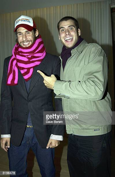 David and Anthony De Rothchild attend the EMI Post Brits 2003 Party at the Sanderson Hotel on February 21 2003 in London