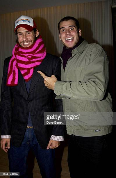 David And Anthony De Rothchild Brit Awards 2003 EMI After Party At The Sanderson Hotel In London