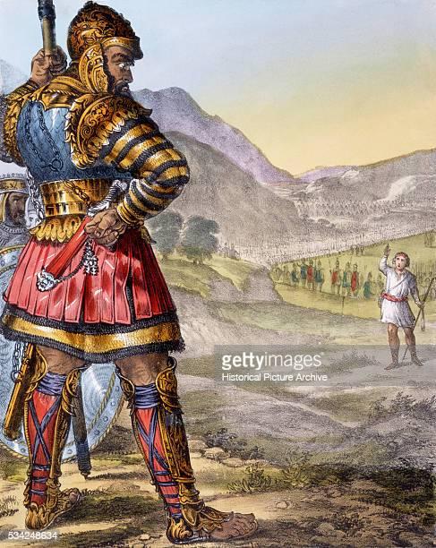 David and Goliath Bible Illustration
