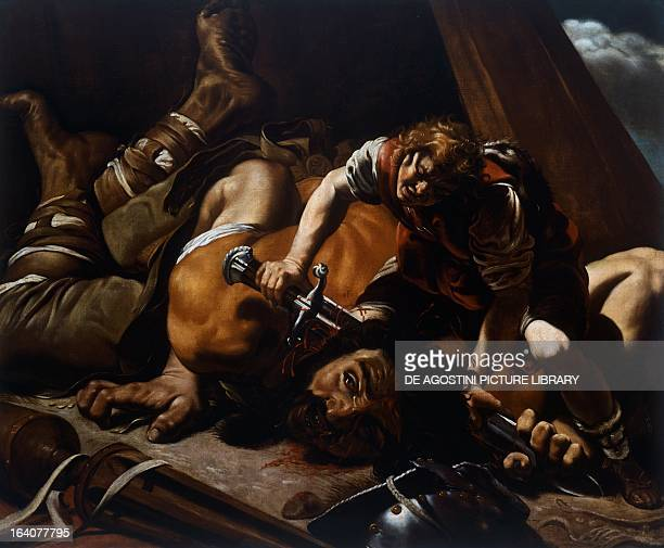 David and Goliath by Orazio Borgianni 1578/1616 oil on canvas 119x143 cm Madrid Real Academia De Bellas Artes De San Fernando