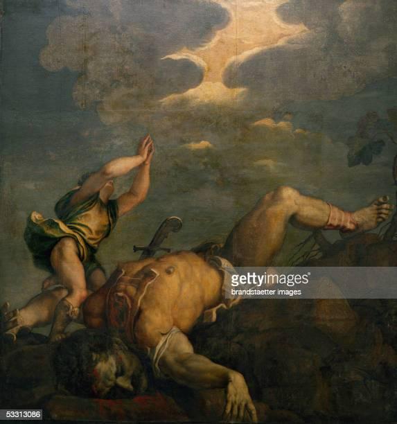 David and Goliath Fresco Santa Maria della Salute [David und Goliath Fresco Santa Maria della Salute]