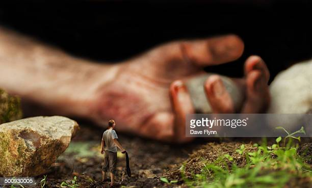 david and goliath - david and goliath stock photos and pictures