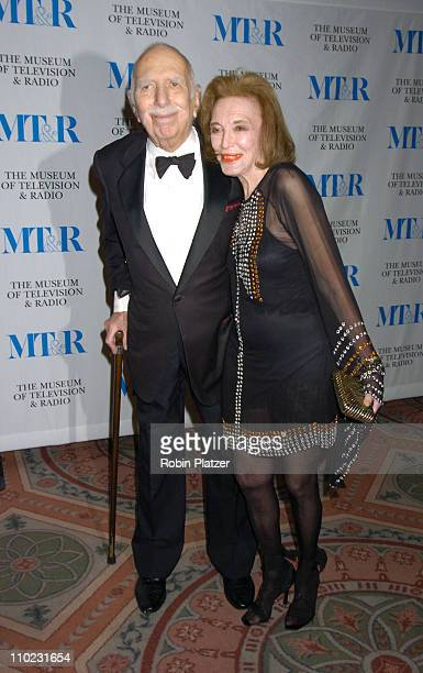 David and Helen Gurley Brown during Merv Griffin Honored at the Museum of Television and Radio's Annual Gala at The Waldorf Astoria Hotel in New York...