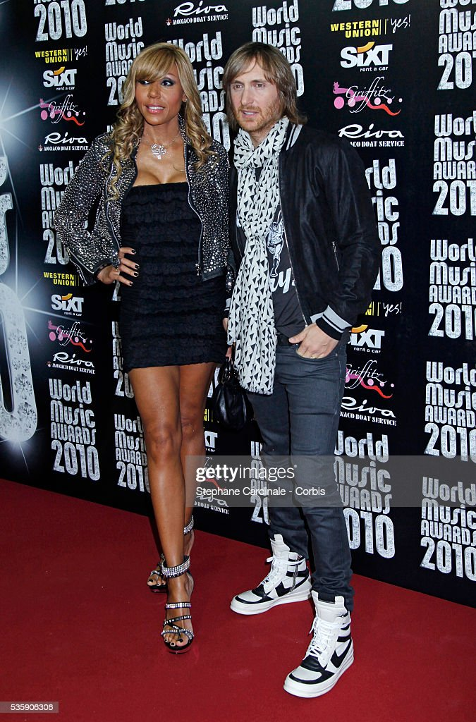 David and Katy Guetta at the 'World Music Awards 2010 - show' at the Sporting Club on May 18, 2010 in Monte Carlo, Monaco.